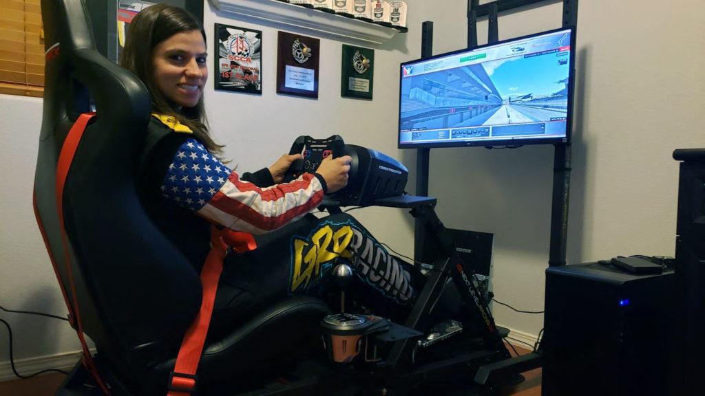 Michele Abbate driving NLR GTtrack Sim