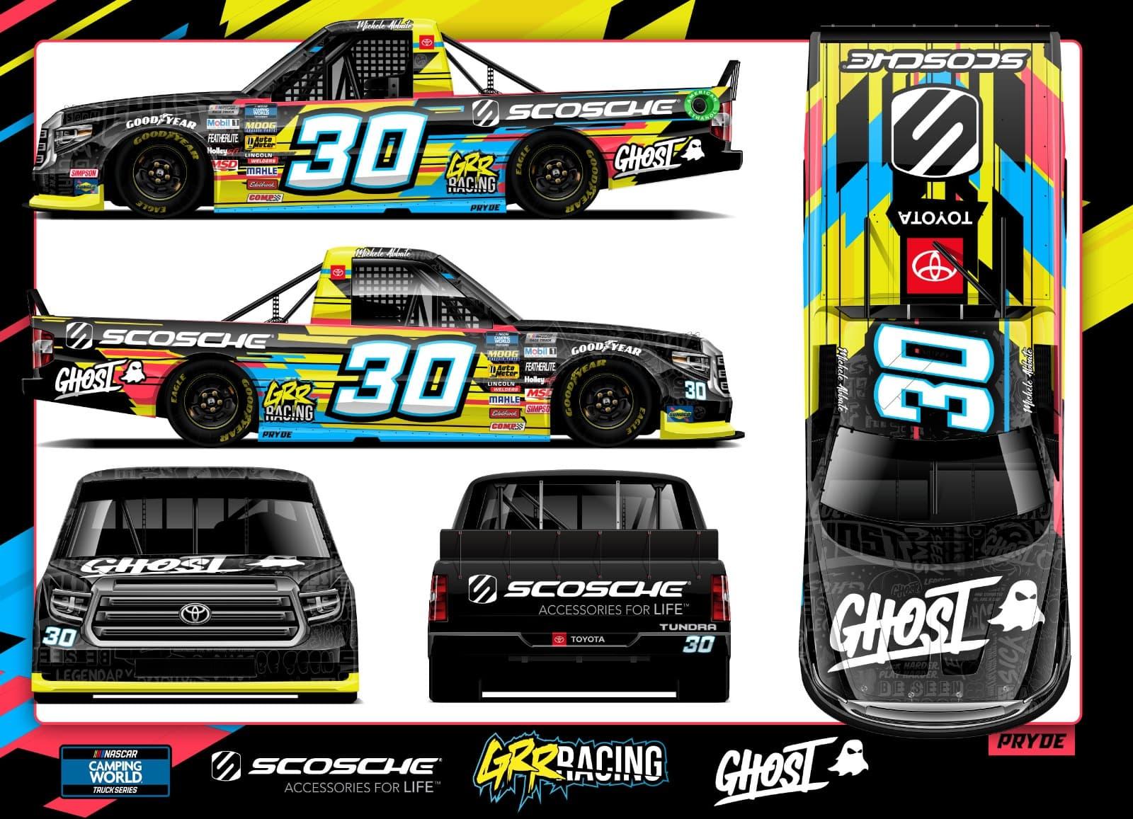 Michele Abbate NASCAR #30 Scosche Toyota Tundra